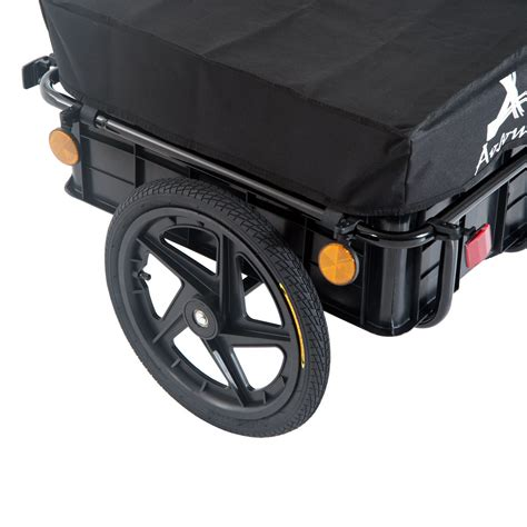 trailer s day aosom wheel frame enclosed bicycle cargo