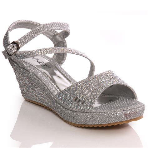 Silver Wedges For Wedding by Unze New Benta Wedge Fashion Wedding Sandals Silver
