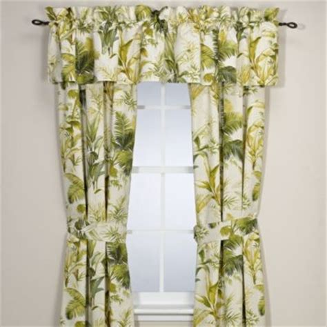 Tropical Window Curtains Bahama Home Island Botanical 84 Inch Window Curtain Panel Pair Tropical Curtains By