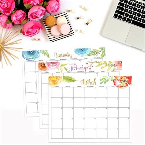 Digital Calendar Template 2017 1000 ideas about 2017 calendar printable on