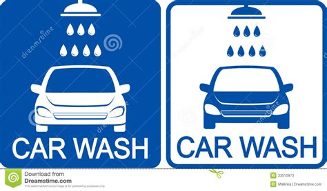 Architecture Design Plans by Two Car Wash Icons Stock Photos Image 33510973