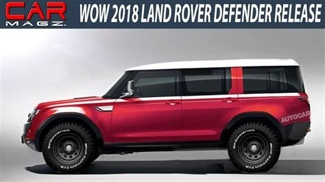 land rover defender 2018 2018 land rover defender usa price and release date