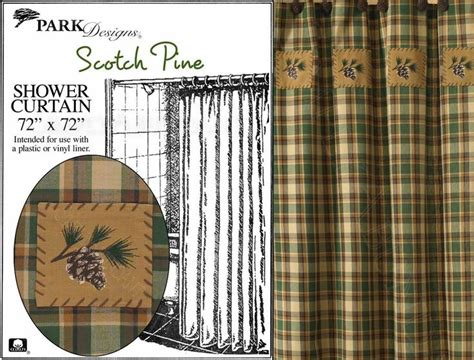 Cabin Designs Scotch Pine Shower Curtain By Park Designs 72x72 Woodsy