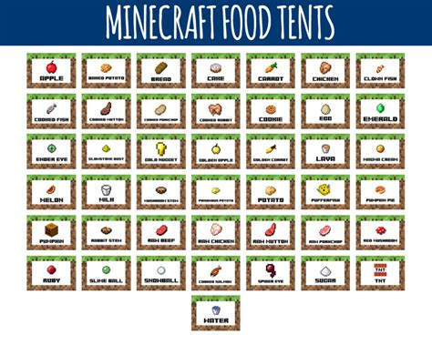 minecraft food labels minecraft food tents littlelight