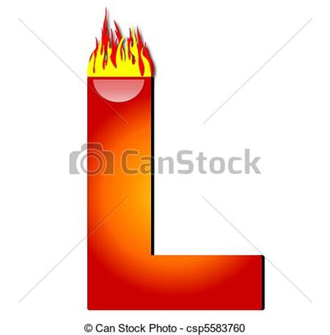 L On by Stock Illustration Of Letter L On Csp5583760 Search