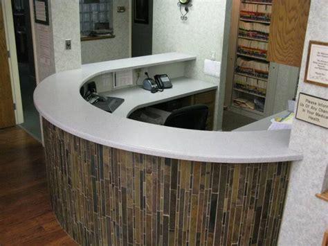 tiled reception desk tiled reception desk barnwood chief tile reception desk