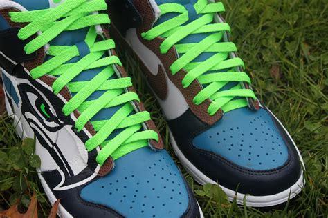 seattle seahawks shoes seattle seahawks nike dunks custom kicks proof culture