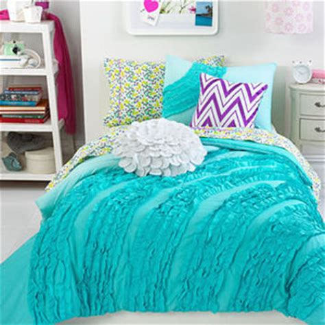 teen bed in a bag teen vogue bedding ella teal ruffle from macys bedroom
