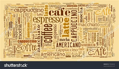 Wallpaper Decorate Cafe Coffee Shop Stock Illustration