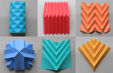 Folded Paper Design - different paper folding techniques paper folding