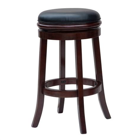 Backless Swivel Bar Stool Boraam 29 Quot Backless Swivel Cherry Bar Stool Ebay
