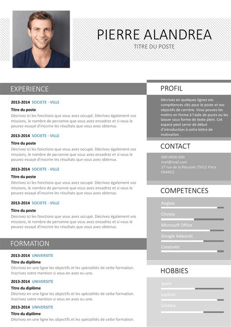 Exemple Type De Cv by Exemple De Cv R 233 Alis 233 Sous Photoshop Gratuit 224 T 233 L 233 Charger