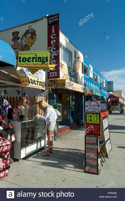 tattoo shops venice beach boardwalk california stock photos boardwalk
