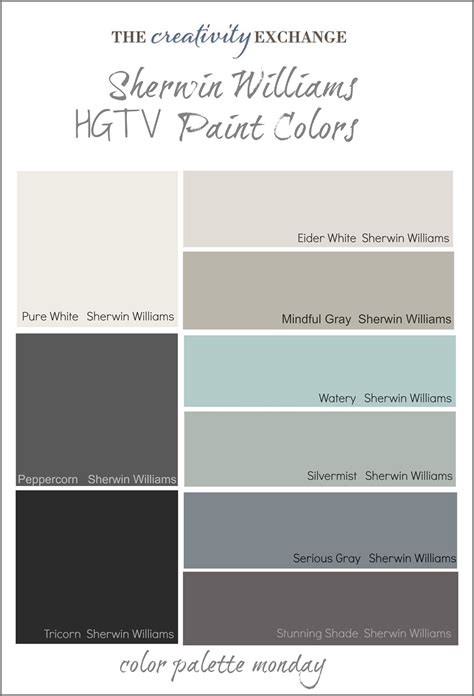 sherman williams hgtv paint colors from sherwin williams
