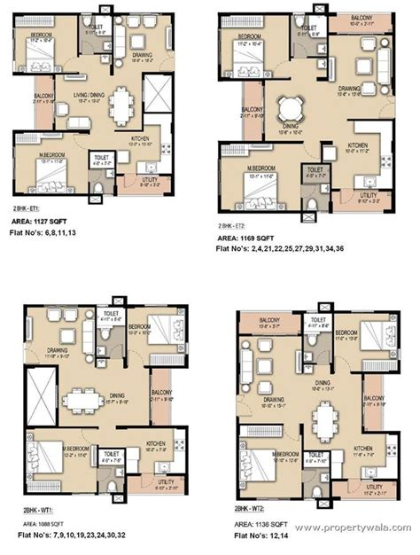 Small Floor Plans 2bhk South Facing Floor Plans Google Search Apartments