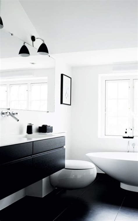 Modern Black And White Bathroom Designs Black And White Modern Bathroom