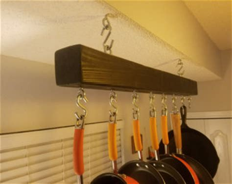 ceiling mounted pot and pan rack pot rack etsy