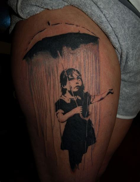 tattoo girl umbrella 1000 images about banksy tattoos on pinterest