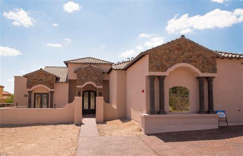 padilla homes custom home builders in el paso tx ocotillo estates el paso tx custom home curb view