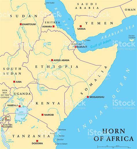 corno dafrica mappa corno dafrica mappa politica illustrazione 540589720 istock