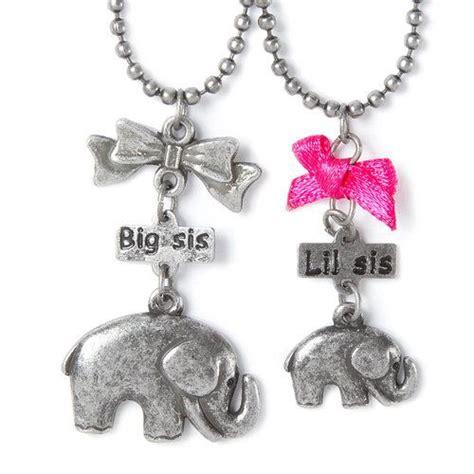 Sis Elephant Top Bigsize big sis lil sis elephant pendant necklaces s jewelry lil sis and big sis
