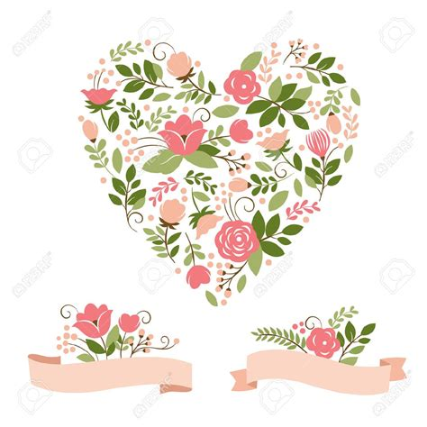 imagenes vectoriales florales gratis floral bouquets and heart royalty free cliparts vectors