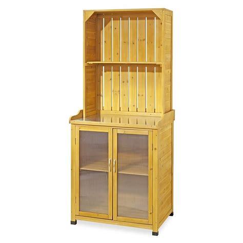 mensole da esterno armadietto da esterno in legno per giardinaggio con mensole
