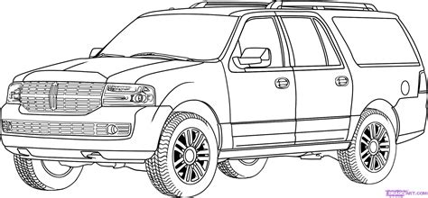 how to draw a lincoln navigator step by step suvs