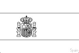 Colouring Book Of Flags Southern Europe Spain Flag Template