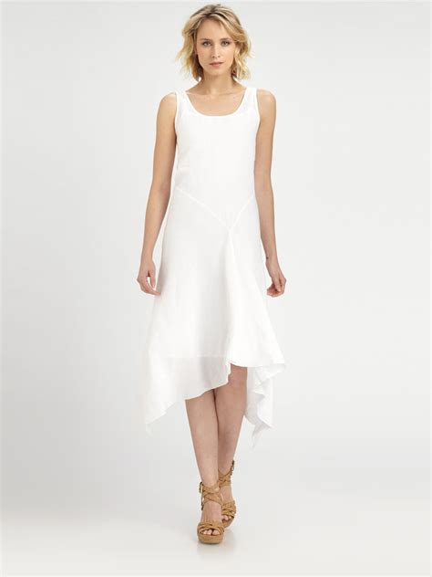 Dress Of The Day White Hoodie Dress by Eileen Fisher Linen Sleeveless Dress In White Lyst