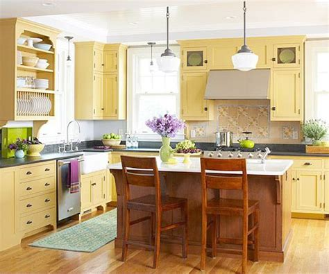 yellow country kitchen ideas www imgkid the image