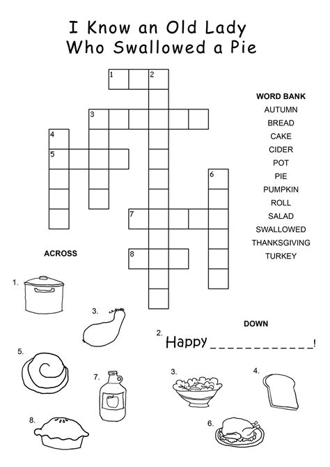 easy crossword puzzles worksheets easy crosswords puzzles for kids activity shelter