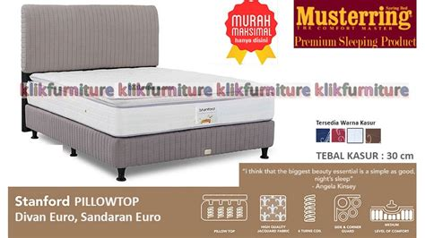 Kasur Stanford Pillow Top 100x200x30 Cm Musterring Bed stanford pillow top style musterring springbed