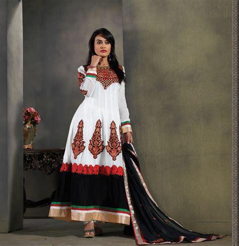 surbhi jyoti in saree white black wedding wear embroidered work long anarkali