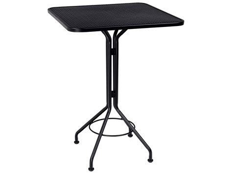 wrought iron bar table woodard wrought iron 30 square bar height table 280098