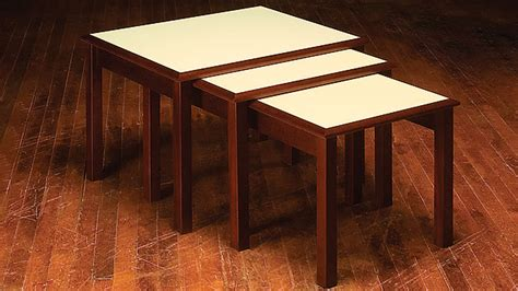 Three Tables by How To Build Nesting Tables Simple Diy Woodworking Project
