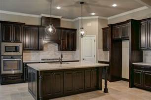 black walnut kitchen cabinets black walnut stained knotty alder cabinets kitchens pinterest tile cabinets and granite