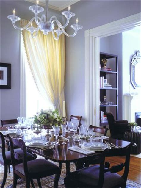 Purple Dining Room Curtains Totally Digging The Lavender Walls And The Cherry