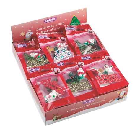 culpitt christmas cake decorations pack assorted