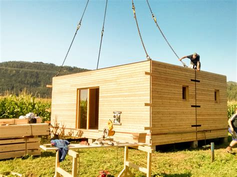 wohncontainer aus holz mobilie thoma holz