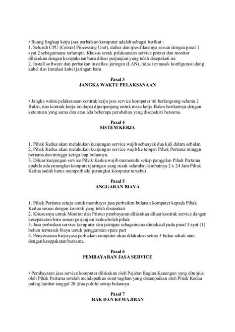 Contoh Surat Perjanjian - Contoh Jel