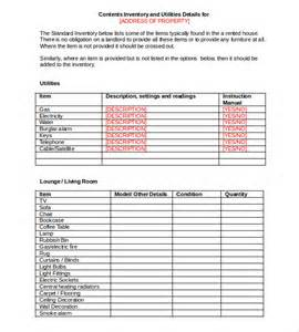 property inventory template free 15 tenancy inventory templates free sle exle