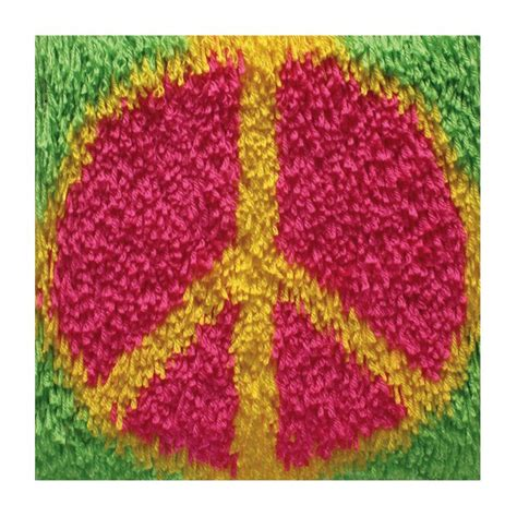 Hook Rugs Kits by Peace Sign Shaggy Latch Hook Kit Latch Hook Rug Kits At