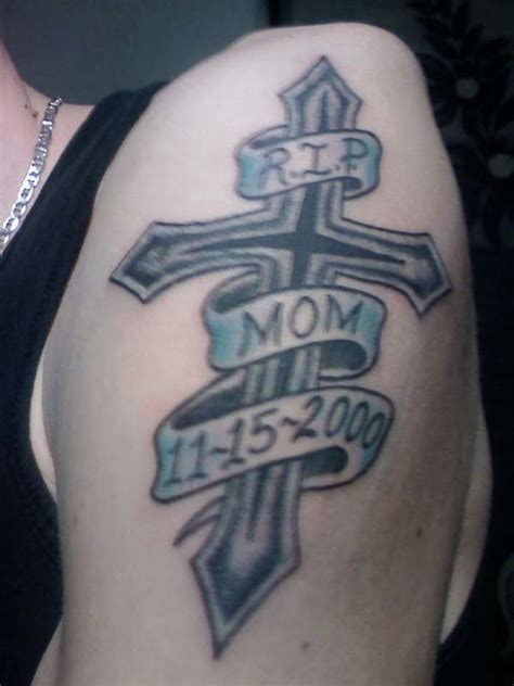 tattoo cross rip my cross rip memorial tat tattoo
