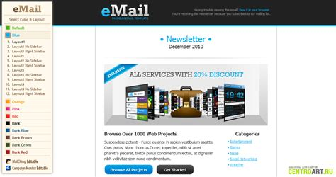 Premium Email Templates premium email template chocotemplates 187 dle 11
