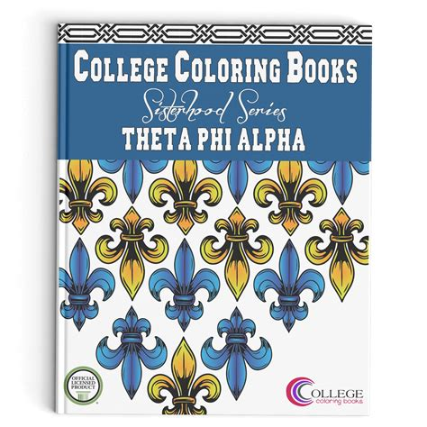 alpha books theta phi alpha coloring book college coloring books