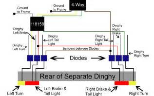 diode installation instructions for a dinghy with separate