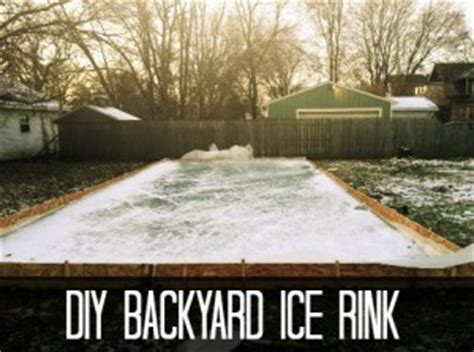 diy backyard ice rink how to sink a troline in the ground