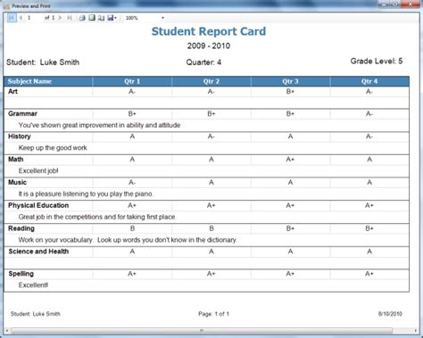 free printable homeschool report card template homeschool report card template free sanjonmotel