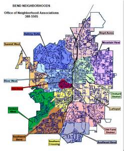 map of bend oregon neighborhoods which city councilor has been assigned to your